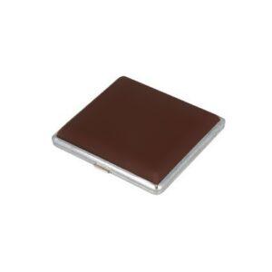 Papierośnica belbox metal ekoskóra brązowa